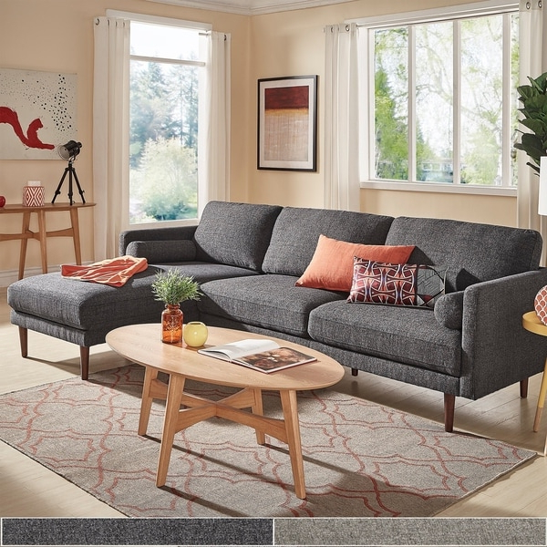 2017 Alani Mid Century Modern Sectional Sofas With Chaise Regarding Shop Oana Mid Century Sectional Sofa With Chaise Lounge (View 13 of 25)