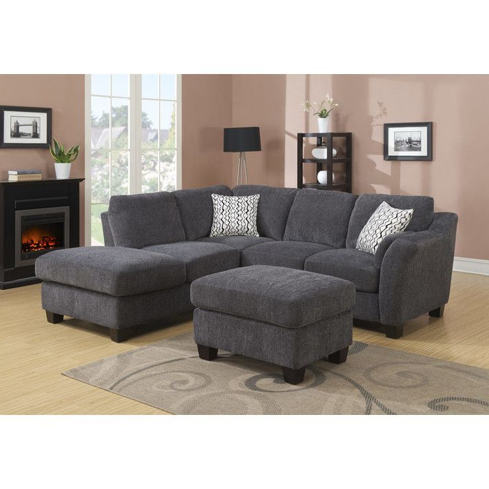 2017 Hannah Right Sectional Sofas With Alcott Hill Patterson Right Hand Facing Sectional (View 10 of 25)