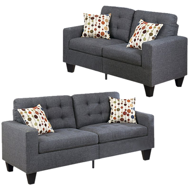 2017 Living Room Sets: Sofa Sets With Couch And Loveseat Regarding 2Pc Maddox Right Arm Facing Sectional Sofas With Cuddler Brown (View 8 of 18)