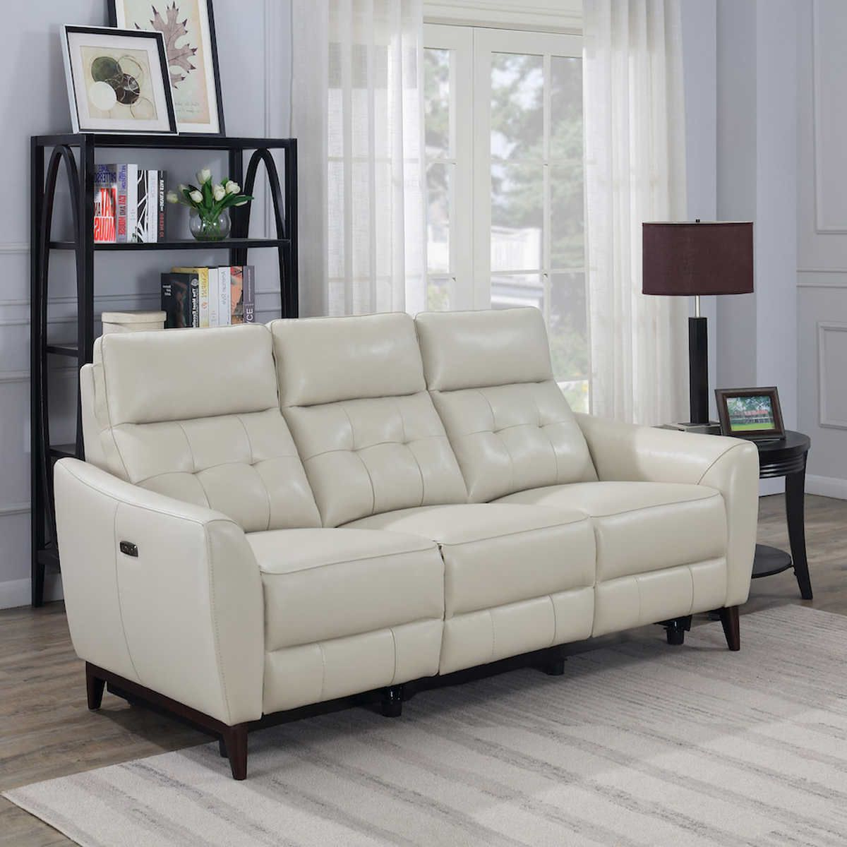 2017 Timmons Leather Power Reclining Sofa With Power Headrest Regarding Nolan Leather Power Reclining Sofas (View 15 of 15)