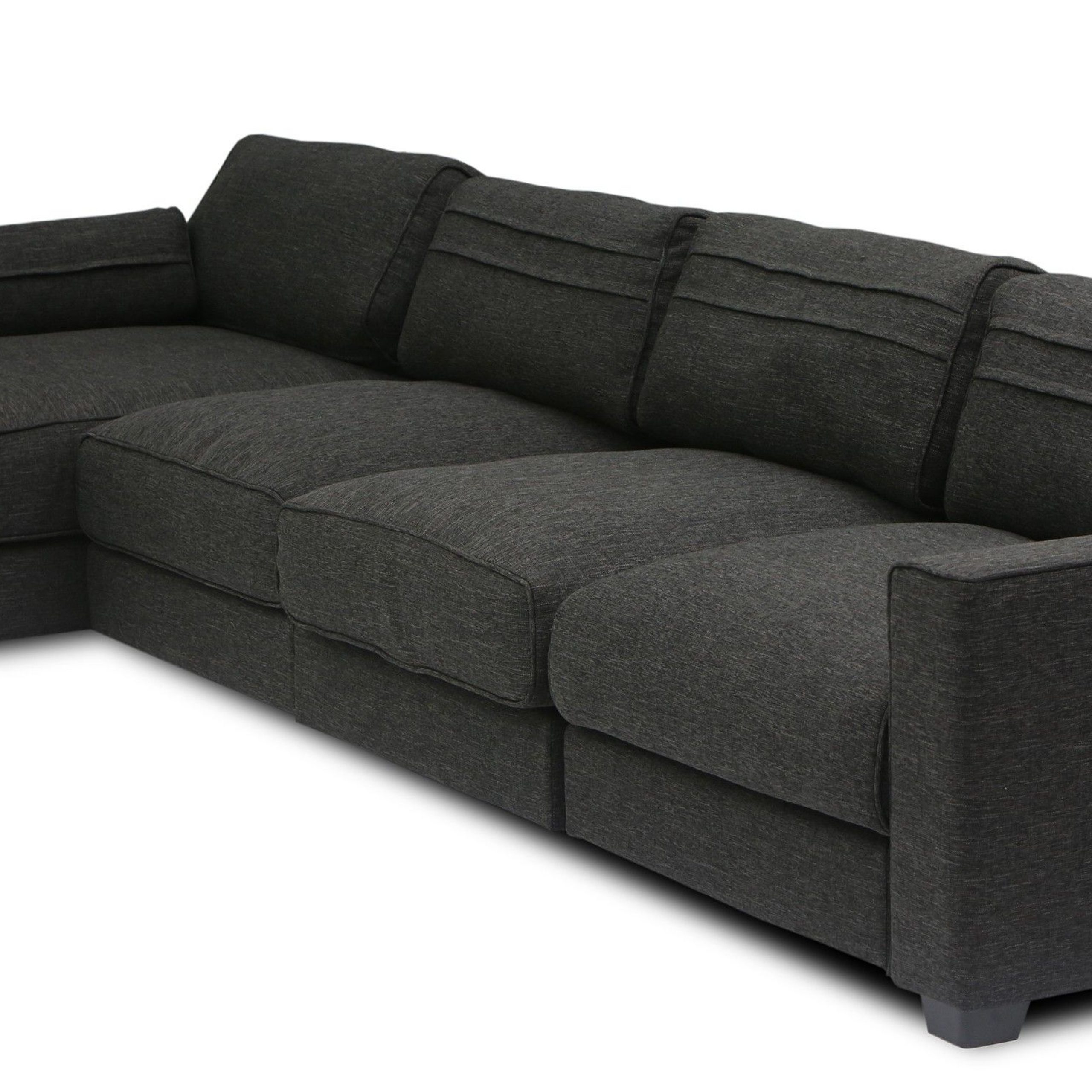 2017 Vani Modular 3 Seat Right Sectional With Chaise With Regard To Alani Mid Century Modern Sectional Sofas With Chaise (View 21 of 25)
