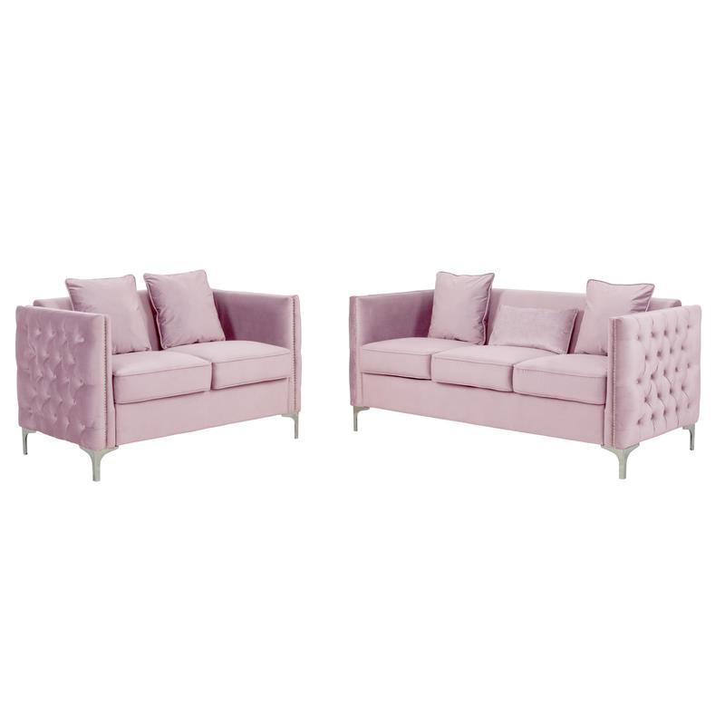 2018 2Pc Maddox Right Arm Facing Sectional Sofas With Cuddler Brown Pertaining To Living Room Sets: Sofa Sets With Couch And Loveseat (View 5 of 18)
