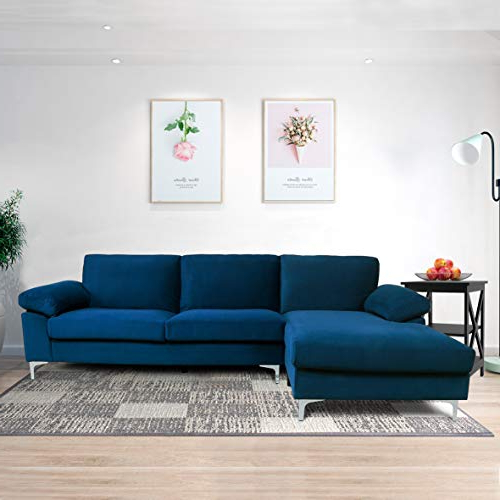 2018 Artisan Blue Sofas Within Sectional Sofas For Living Room Blue Couch Comfortable (View 11 of 15)