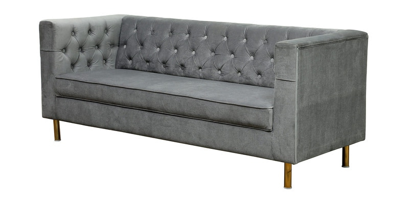2018 Buy Scarlett 3 Seater Sofa In Grey Colour – Casacraft Pertaining To Scarlett Beige Sofas (View 10 of 15)