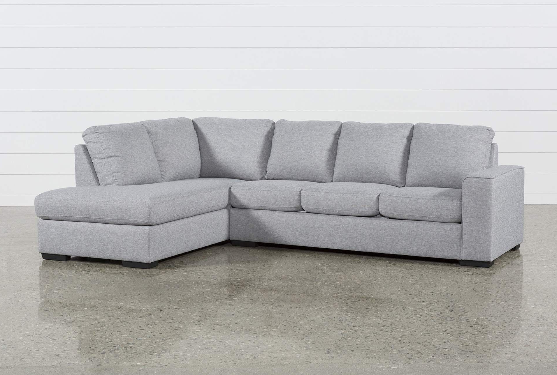 2018 Lucy Grey 2 Piece Sectional Sofa With Right Arm Facing Pertaining To Monet Right Facing Sectional Sofas (View 15 of 25)