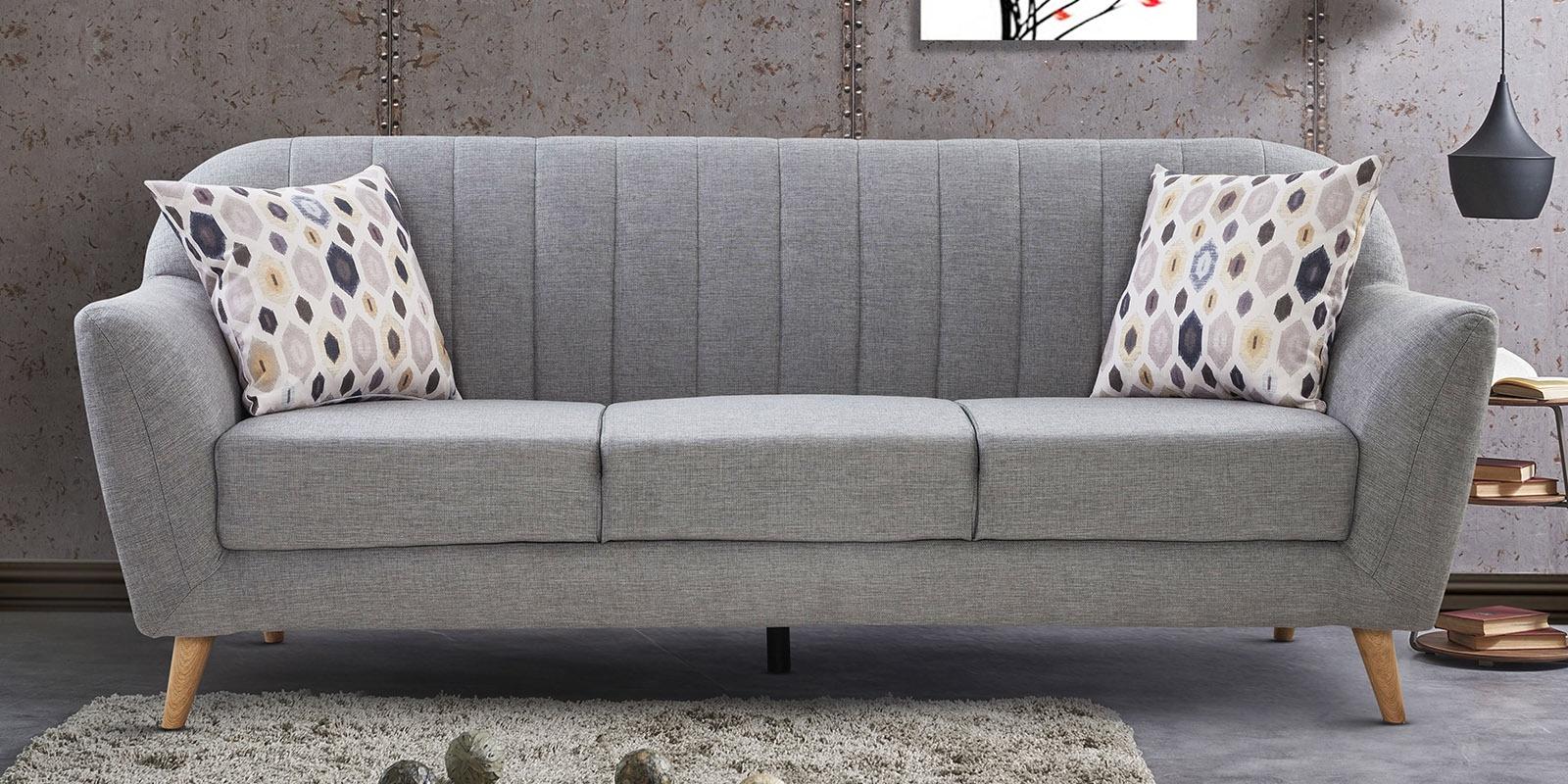 2018 Ludovic Contemporary Sofas Light Gray Regarding Buy Antalya 3 Seater Sofa In Grey Coloururban Living (View 7 of 25)