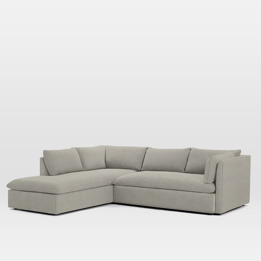 2018 Shelter Set 1  Left Arm Sofa, Right Arm Terminal Chaise Regarding Dulce Right Sectional Sofas Twill Stone (View 15 of 25)