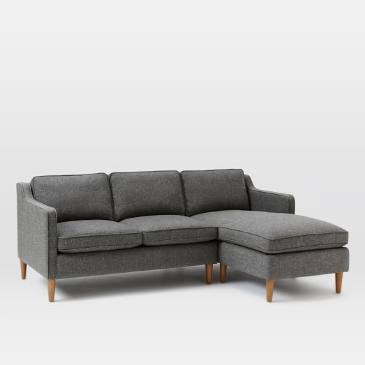 2Pc Burland Contemporary Chaise Sectional Sofas With Regard To Recent Hamilton 2 Piece Chaise Sectional (View 15 of 25)