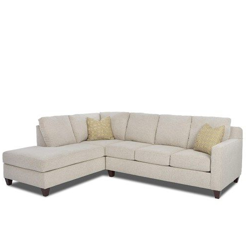 2Pc Burland Contemporary Chaise Sectional Sofas With Well Liked Bosco Contemporary 2 Piece Sectional With Right Arm Facing (View 3 of 25)