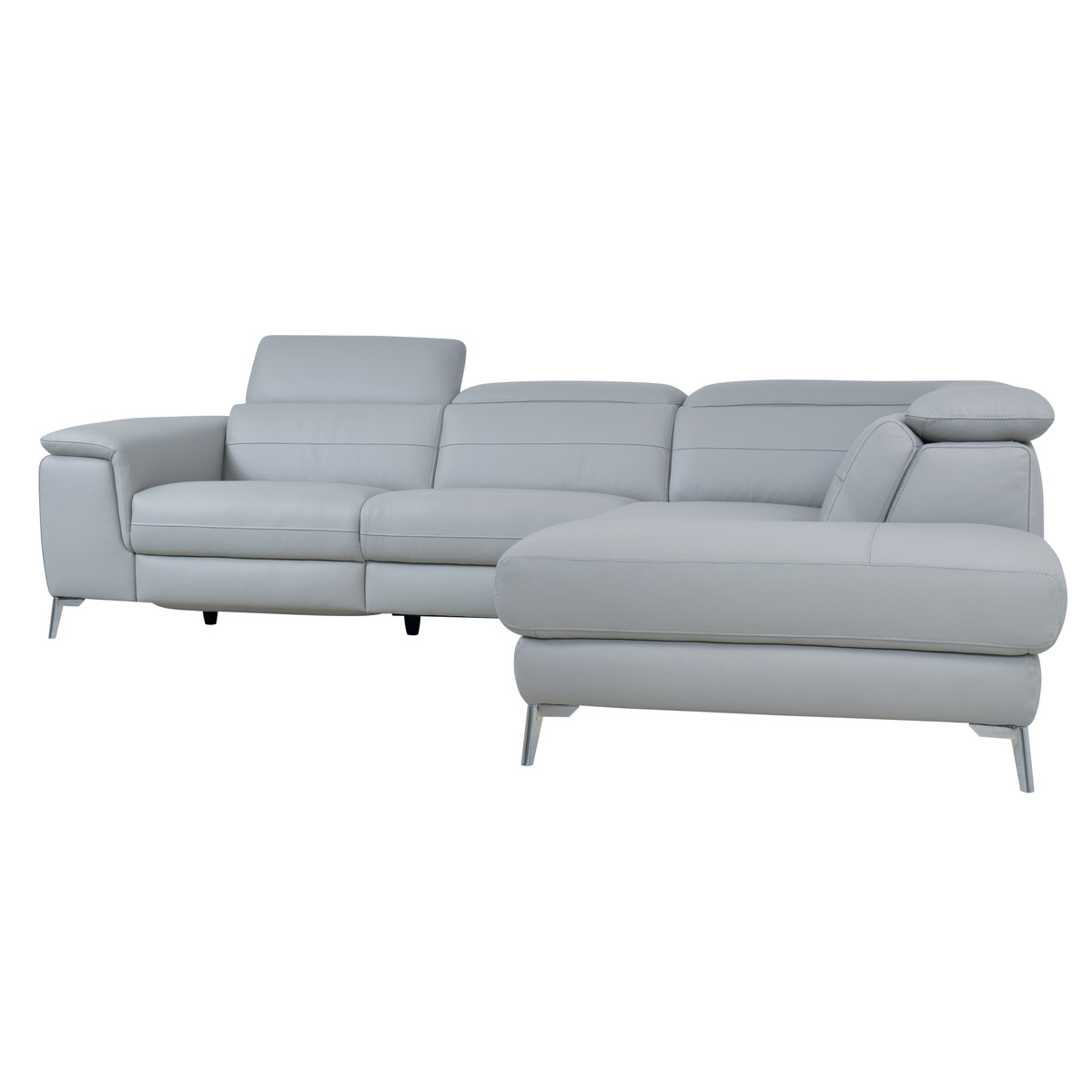 2Pc Crowningshield Contemporary Chaise Sofas Light Gray In Newest 8256Gylss 2 Piece Sectional With Left Chaise, Light Grey (View 10 of 25)