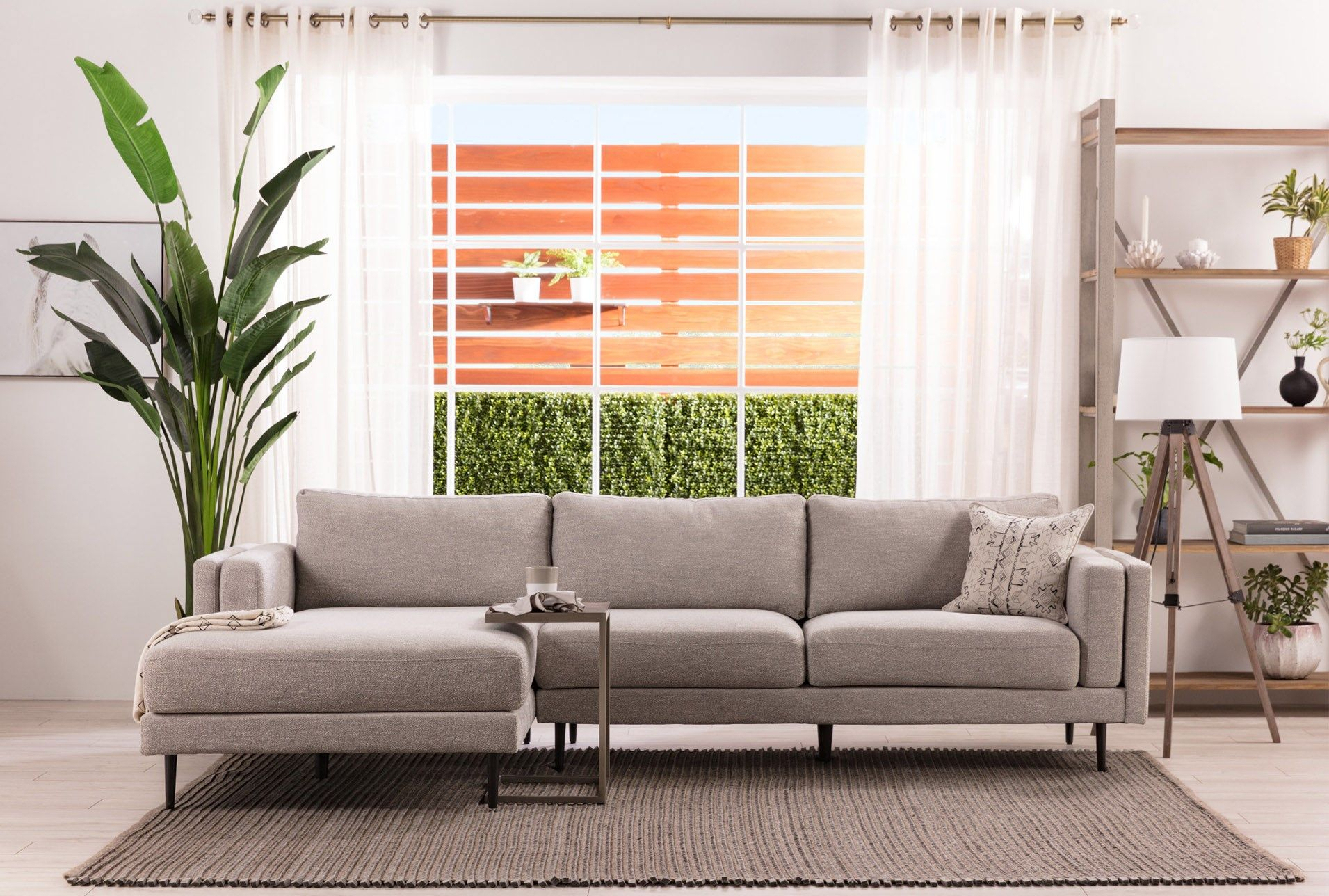 2Pc Crowningshield Contemporary Chaise Sofas Light Gray Inside Best And Newest Aquarius Light Grey 2 Piece Sectionals With Laf Chaise (View 8 of 25)