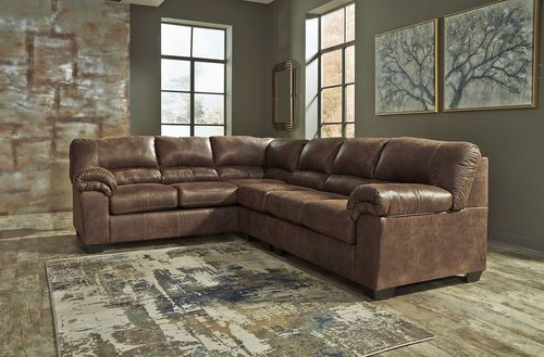 2Pc Maddox Left Arm Facing Sectional Sofas With Chaise Brown In Preferred Dark Living Room Sectional – Ashley Bladen Coffee Left Arm (View 1 of 25)