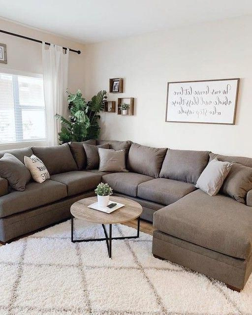 2Pc Maddox Left Arm Facing Sectional Sofas With Chaise Brown Regarding 2017 Kerri Charcoal 2 Piece Sectional With Left Arm Facing (View 17 of 25)
