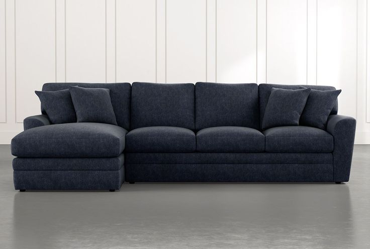 2Pc Maddox Left Arm Facing Sectional Sofas With Chaise Brown Within 2017 Prestige Foam Navy Blue 2 Piece Sectional With Left Arm (View 21 of 25)