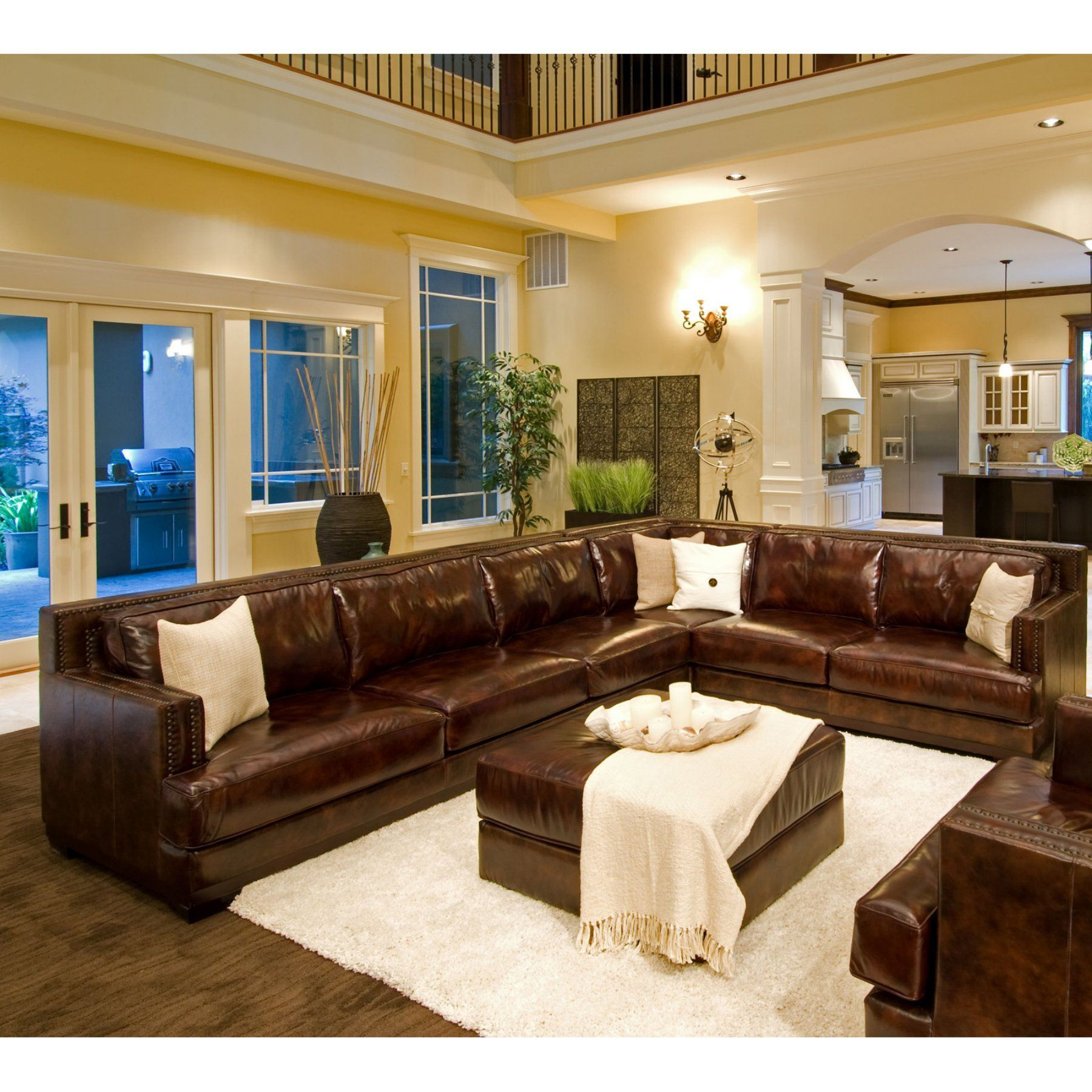 2Pc Maddox Left Arm Facing Sectional Sofas With Chaise Brown Within Current Easton Top Grain Leather Sectional (Right Arm Facing Sofa (View 19 of 25)