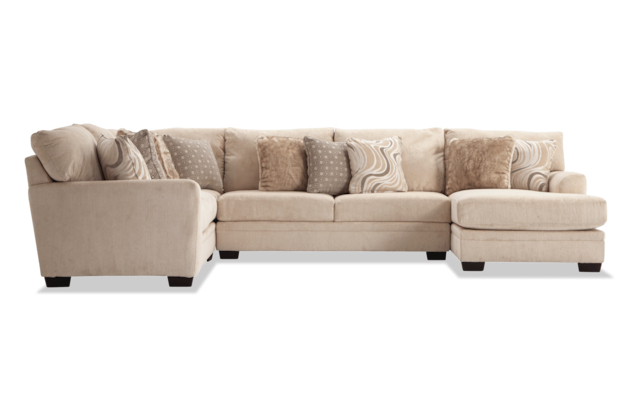2Pc Maddox Right Arm Facing Sectional Sofas With Chaise Brown With Famous Luxe Gray 2 Piece Right Arm Facing Sectional With Chaise (View 1 of 25)