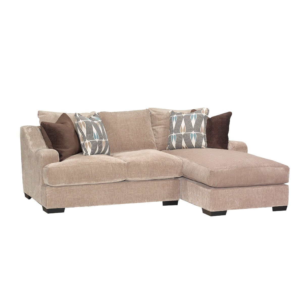 2Pc Maddox Right Arm Facing Sectional Sofas With Chaise Brown With Regard To Most Current Stone Brown Casual Contemporary 2 Piece Sectional (View 10 of 25)