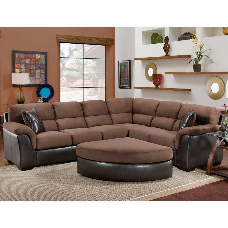 2Pc Maddox Right Arm Facing Sectional Sofas With Chaise Brown With Widely Used Chelsea Home Mclean 2 Piece Sectional Sofa – Chel (View 18 of 25)