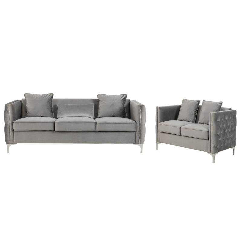 2Pc Maddox Right Arm Facing Sectional Sofas With Cuddler Brown In 2018 Living Room Sets: Sofa Sets With Couch And Loveseat (View 9 of 18)