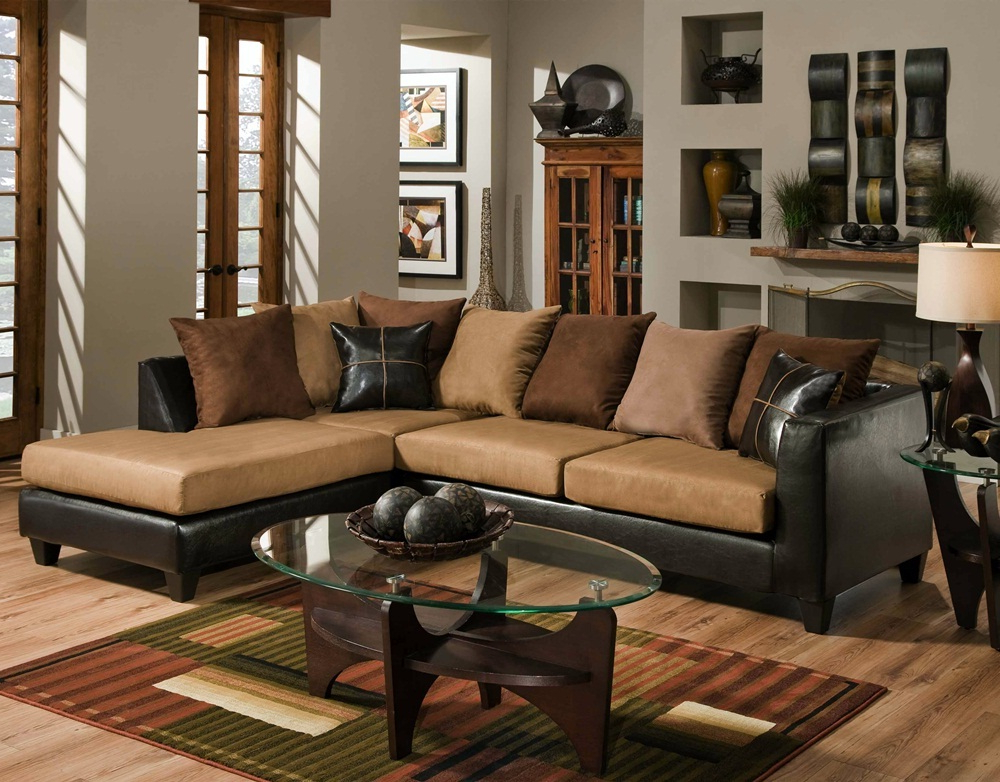 3Pc Faux Leather Sectional Sofas Brown Throughout Latest Chocolate Brown Sectional Sofa (View 19 of 25)