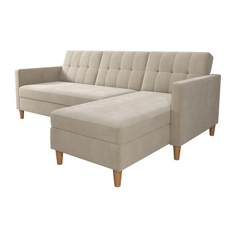3Pc Hartford Storage Sectional Futon Sofas And Hartford Storage Ottoman Tan Intended For 2017 Dhp Hartford Storage Sectional Futon And Storage Ottoman (View 10 of 23)