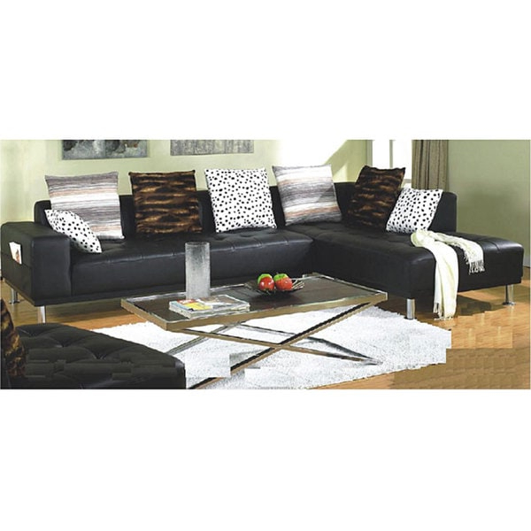 3Pc Miles Leather Sectional Sofas With Chaise For Most Up To Date Shop Furniture Of America Ibiza 3 Piece Bicast Leather (View 13 of 25)
