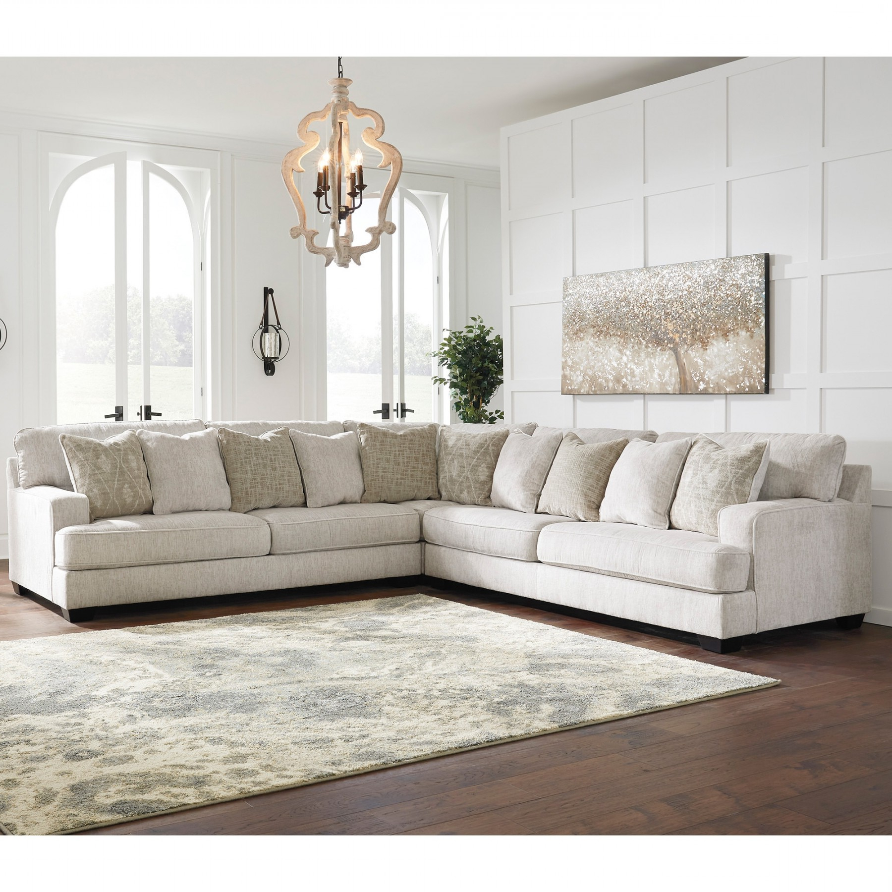 3Pc Polyfiber Sectional Sofas For Most Current Rawcliffe Parchment 3 Piece Sectional – Sectionals (View 19 of 25)