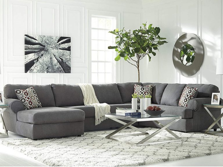 3Pc Polyfiber Sectional Sofas With Nail Head Trim Blue/Gray Intended For Best And Newest 50 Best Cheap Sectional Sofas For Every Budget – Homeluf (View 18 of 25)
