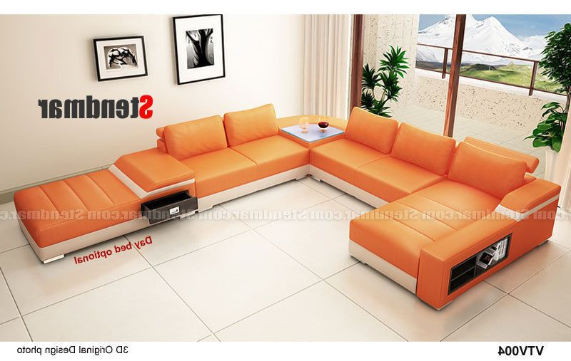 4 Piece Modern Leather Sectional Sofa Set S1004 (Custom Intended For Popular 4Pc Beckett Contemporary Sectional Sofas And Ottoman Sets (View 15 of 25)