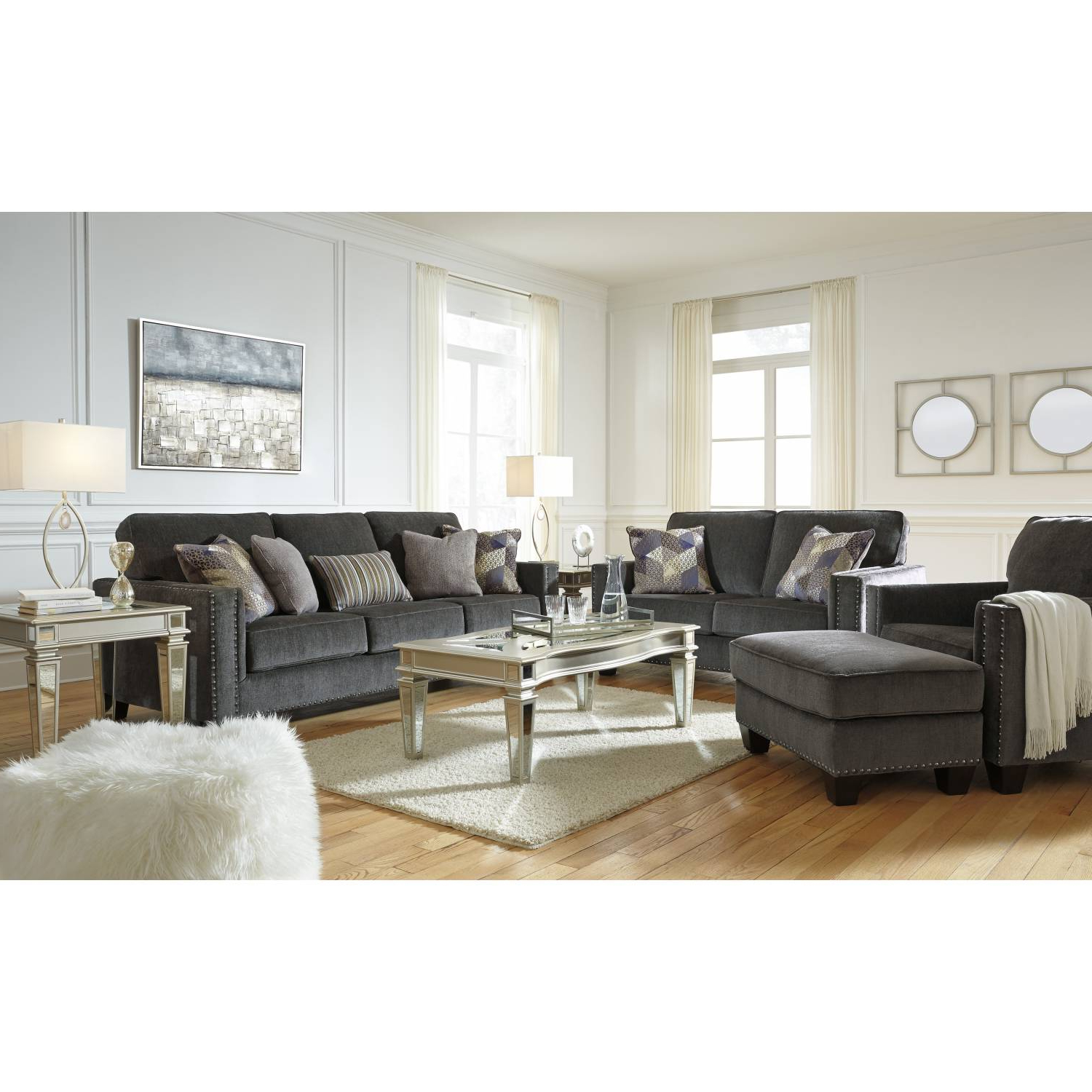 4Pc Beckett Contemporary Sectional Sofas And Ottoman Sets Regarding 2018 43001 Gavril 4Pc Sets Sofa + Loveseat + Chair + Ottoman (View 19 of 25)