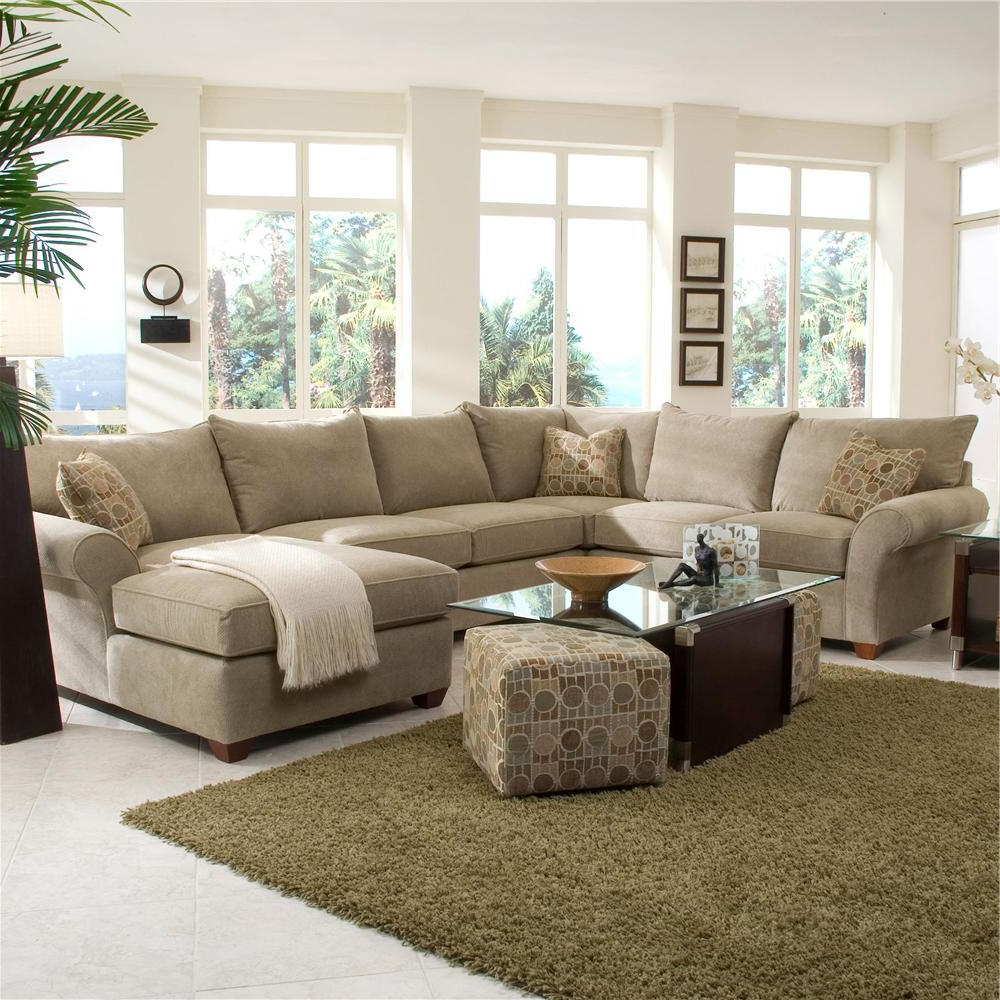 4Pc Crowningshield Contemporary Chaise Sectional Sofas For Widely Used Spacious Sectional With Chaise Loungeklaussner (View 22 of 25)