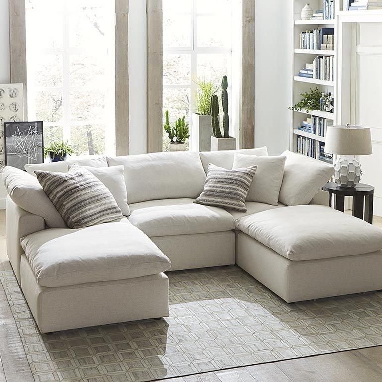 4Pc Crowningshield Contemporary Chaise Sectional Sofas Throughout Favorite Sectional Chaise Sofa Small Double Chaise Sectional (View 16 of 25)