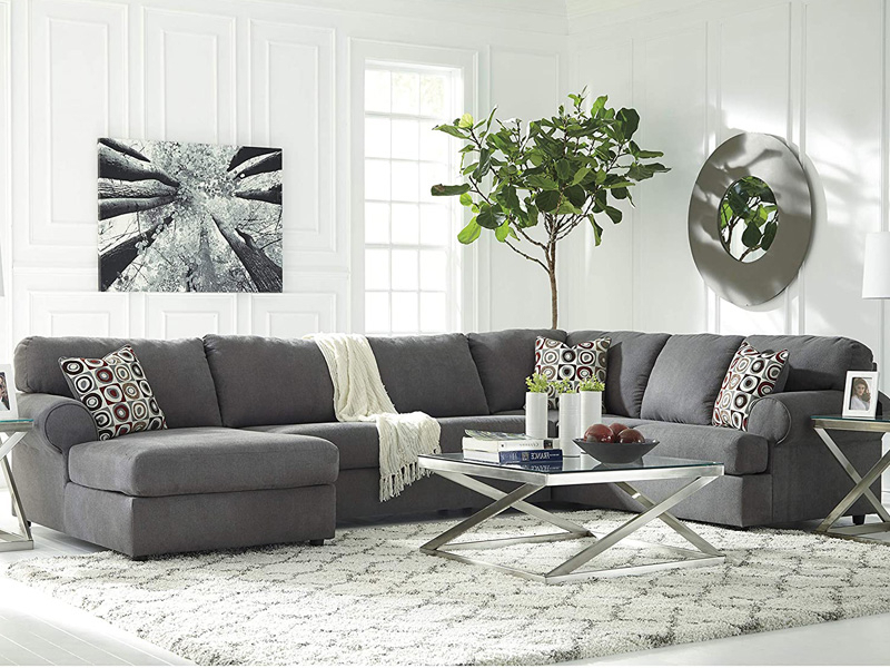 50 Best Cheap Sectional Sofas For Every Budget – Homeluf Intended For Popular 3Pc Polyfiber Sectional Sofas With Nail Head Trim Blue/Gray (View 20 of 25)