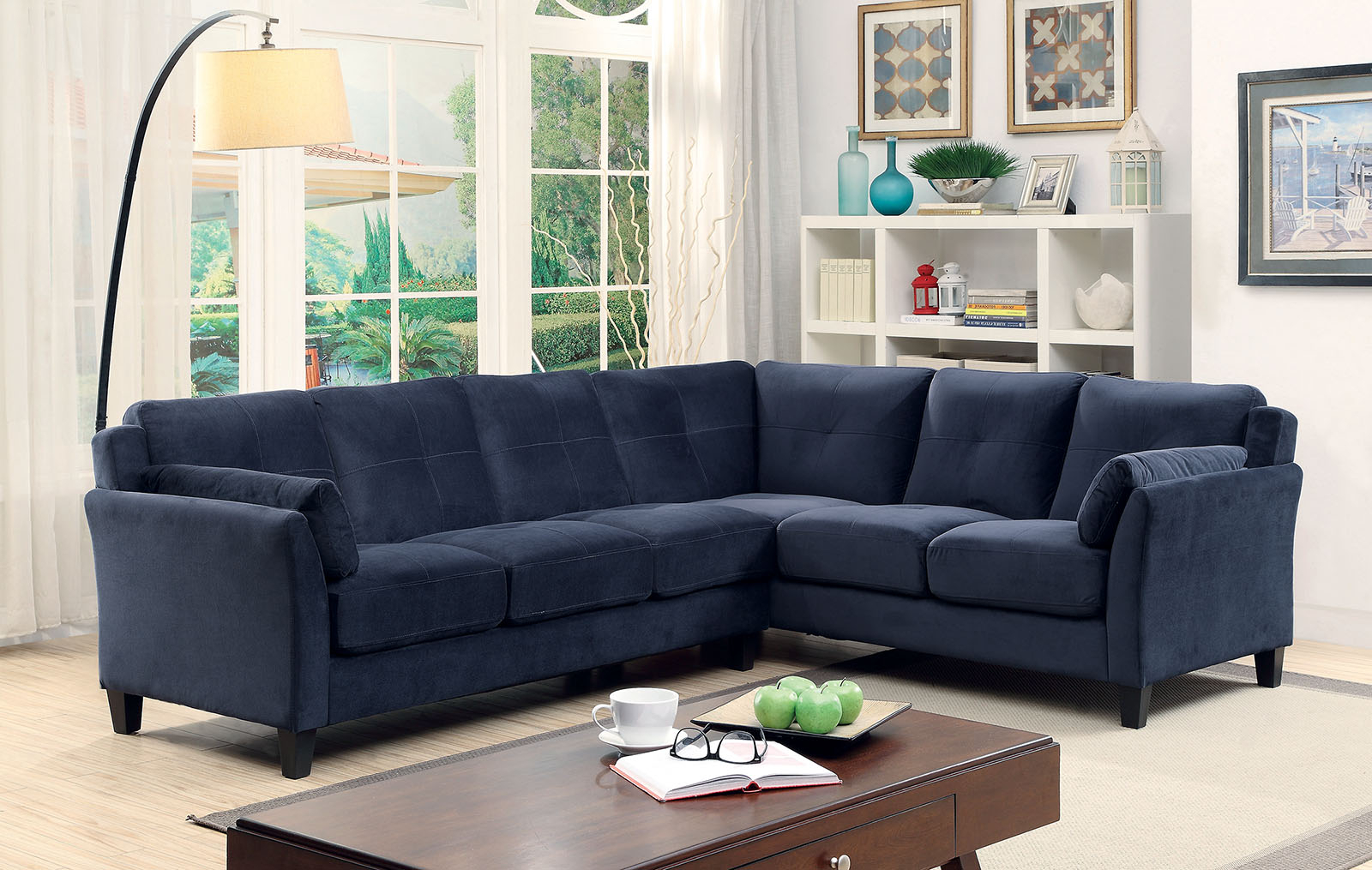 6368Nv Nvay Blue Contemporary Sectional Sofa Furniture Of Regarding Most Recent Paul Modular Sectional Sofas Blue (View 3 of 25)