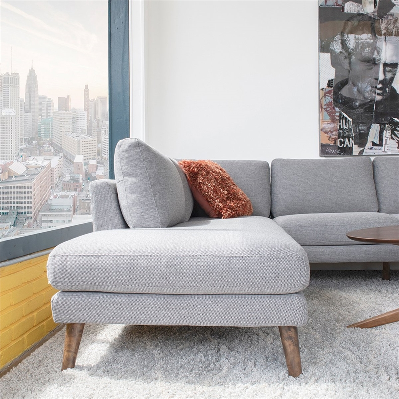 Alani Mid Century Modern Sectional Sofas With Chaise With Regard To Most Recently Released Mid Century Modern Paisley Light Gray Sectional Sofa (View 15 of 25)