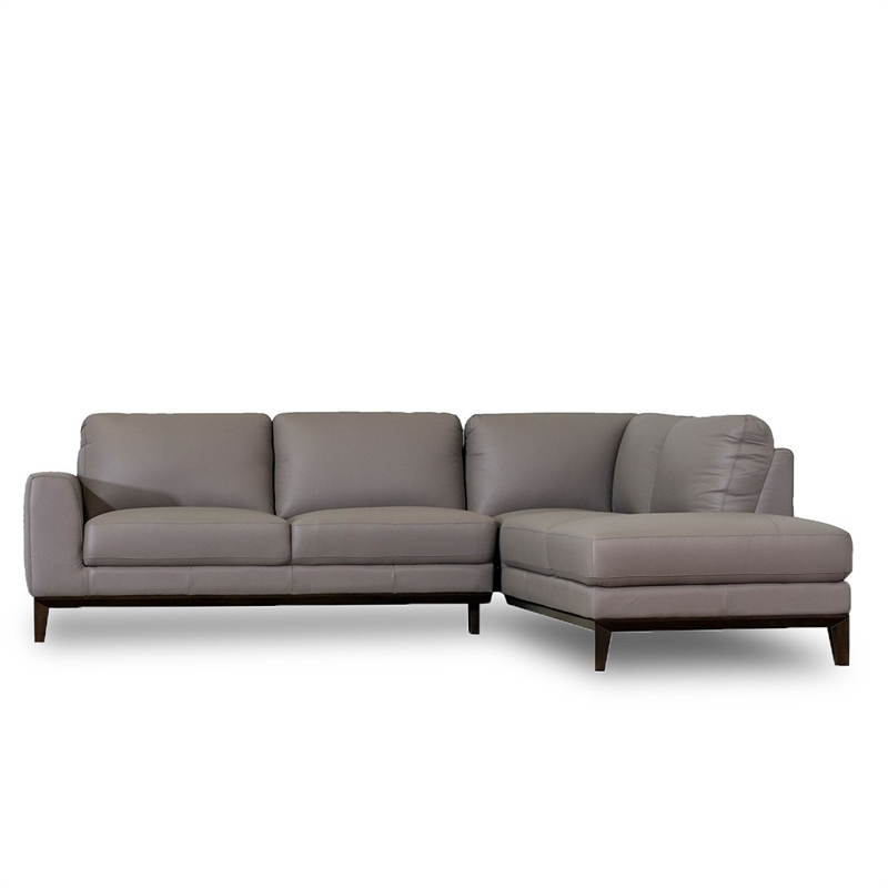 Allora Mid Century Modern Leather Left Chaise Sectional Intended For Best And Newest Florence Mid Century Modern Left Sectional Sofas (View 17 of 25)