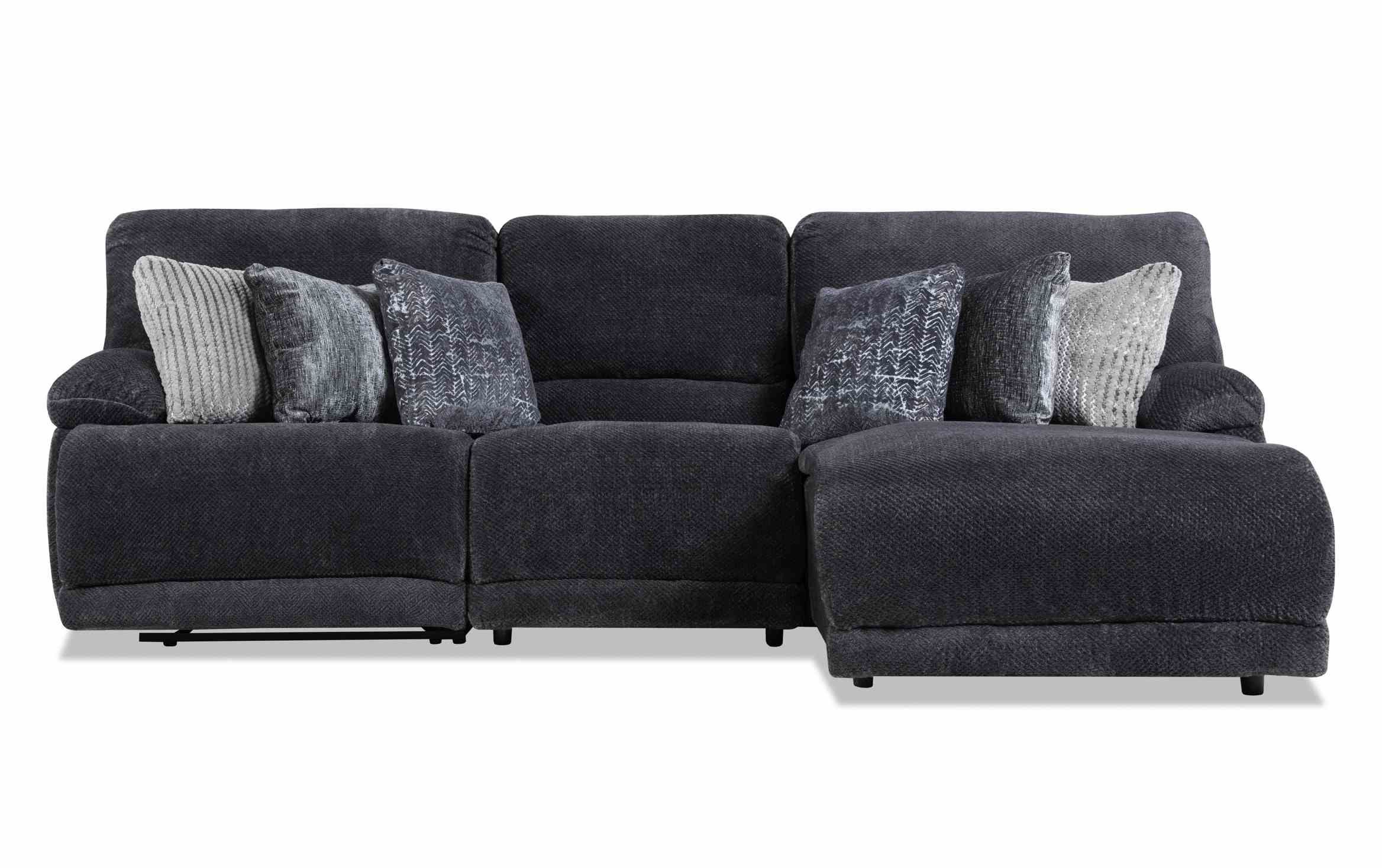 Alpine 3 Piece Right Arm Facing Power Reclining Sectional For Fashionable Contempo Power Reclining Sofas (View 6 of 15)
