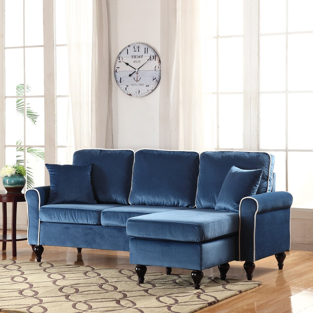 Antique Of Red Velvet Sectional Sofa – Loccie Better Homes Within Most Popular French Seamed Sectional Sofas In Velvet (View 1 of 25)