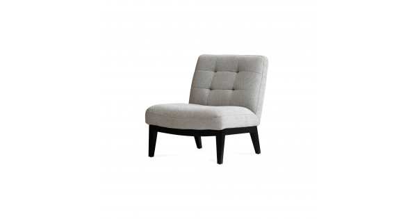 Antonio Light Gray Leather Sofas For Well Known Canyon Lounge Chair Light Grey Fabric (View 11 of 15)
