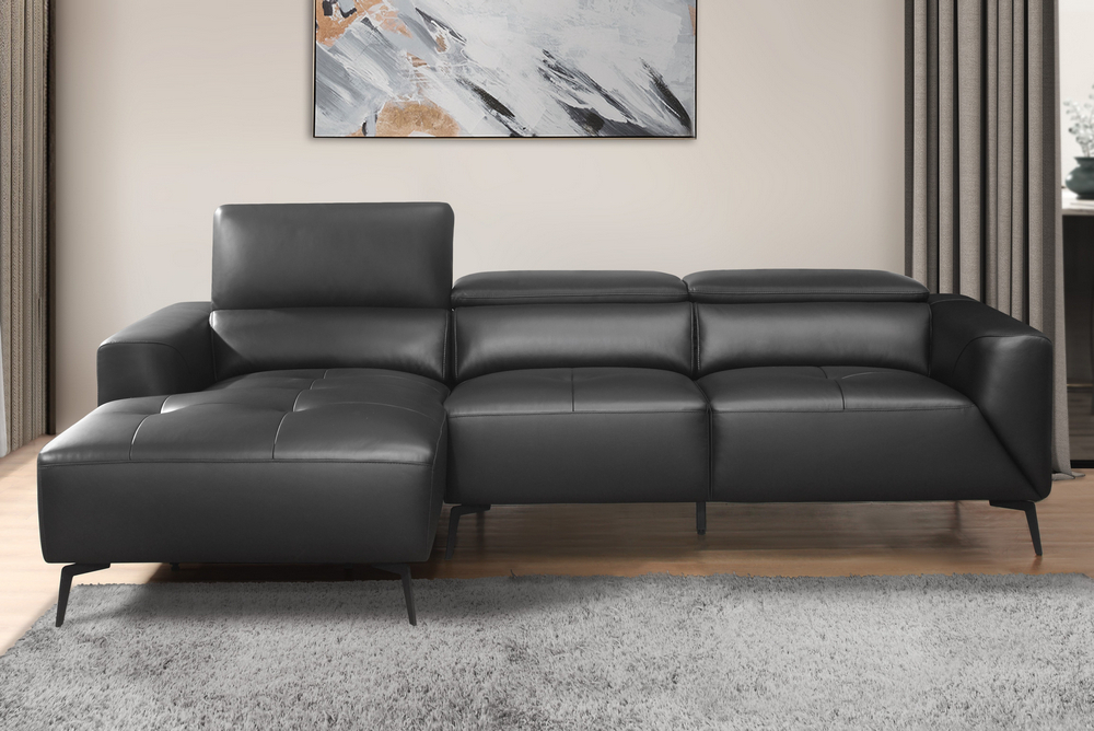 [%Argonne 2 Pc Black Top Grain Leather Raf Sectional Sofa Within Latest Matilda 100% Top Grain Leather Chaise Sectional Sofas|Matilda 100% Top Grain Leather Chaise Sectional Sofas For Well Liked Argonne 2 Pc Black Top Grain Leather Raf Sectional Sofa|Most Current Matilda 100% Top Grain Leather Chaise Sectional Sofas With Regard To Argonne 2 Pc Black Top Grain Leather Raf Sectional Sofa|Famous Argonne 2 Pc Black Top Grain Leather Raf Sectional Sofa Within Matilda 100% Top Grain Leather Chaise Sectional Sofas%] (View 2 of 25)