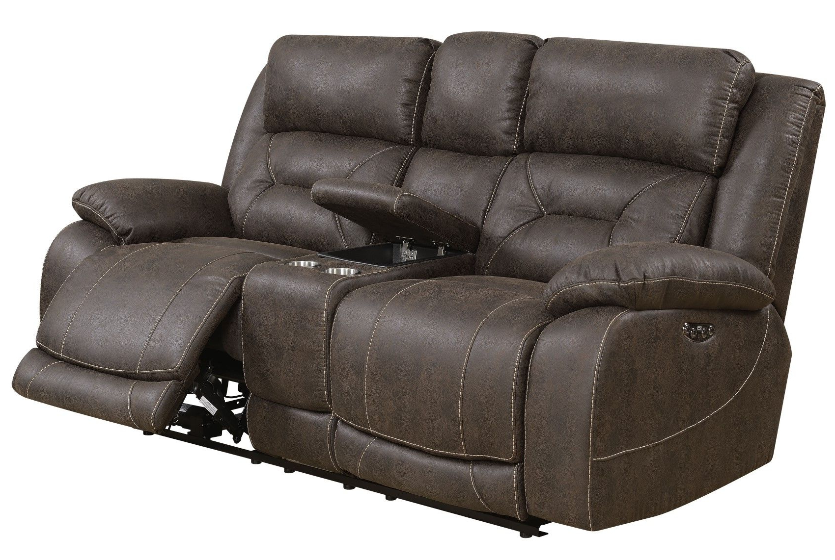 Aria Power Recliner Sofa Set With Power Head Rest In With Regard To Popular Expedition Brown Power Reclining Sofas (View 2 of 15)