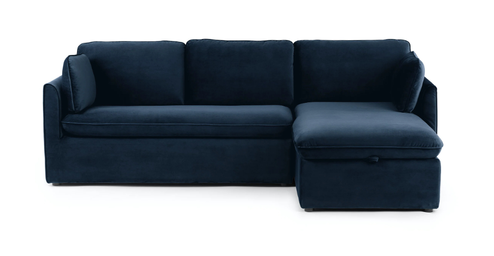 Article With Regard To Florence Mid Century Modern Velvet Left Sectional Sofas (View 10 of 25)