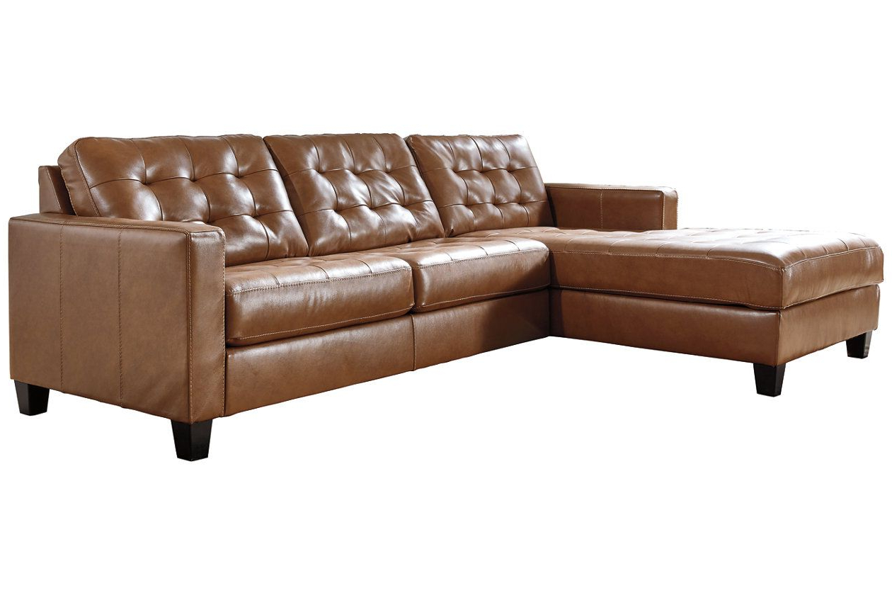 Ashley Furniture Throughout Famous 2Pc Maddox Right Arm Facing Sectional Sofas With Chaise Brown (View 16 of 25)