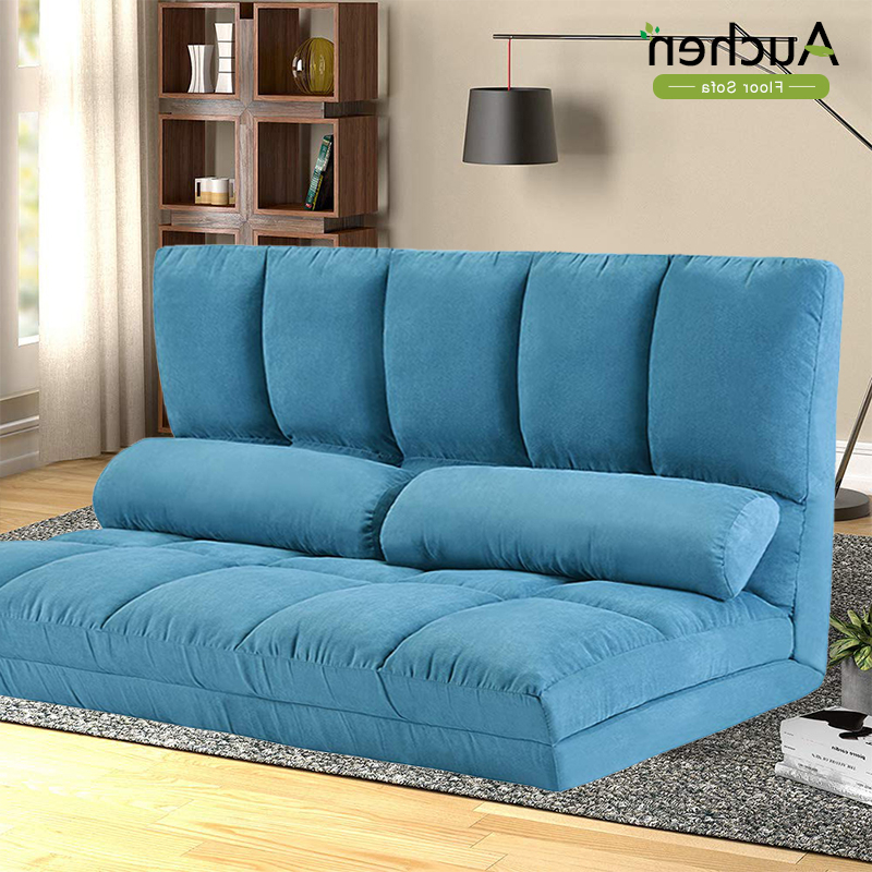 Auchen® Adjustable Futon Sofa Bed/ Folding Lounge Sofa Within Well Known Easton Small Space Sectional Futon Sofas (View 2 of 25)