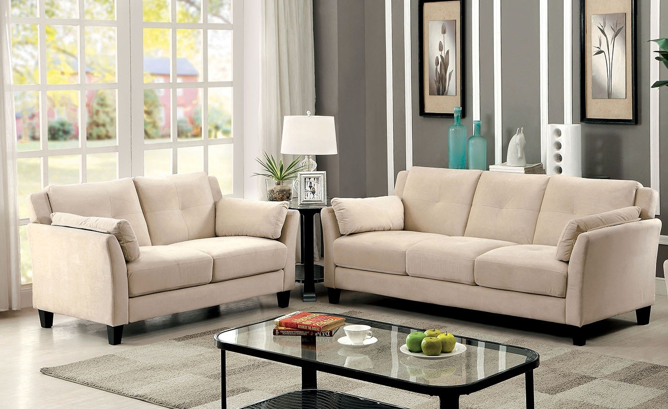 Beige Sofas Within Most Popular Ysabel 2 Pc Sofa And Loveseat In Beige – Sofa Sets (View 13 of 15)