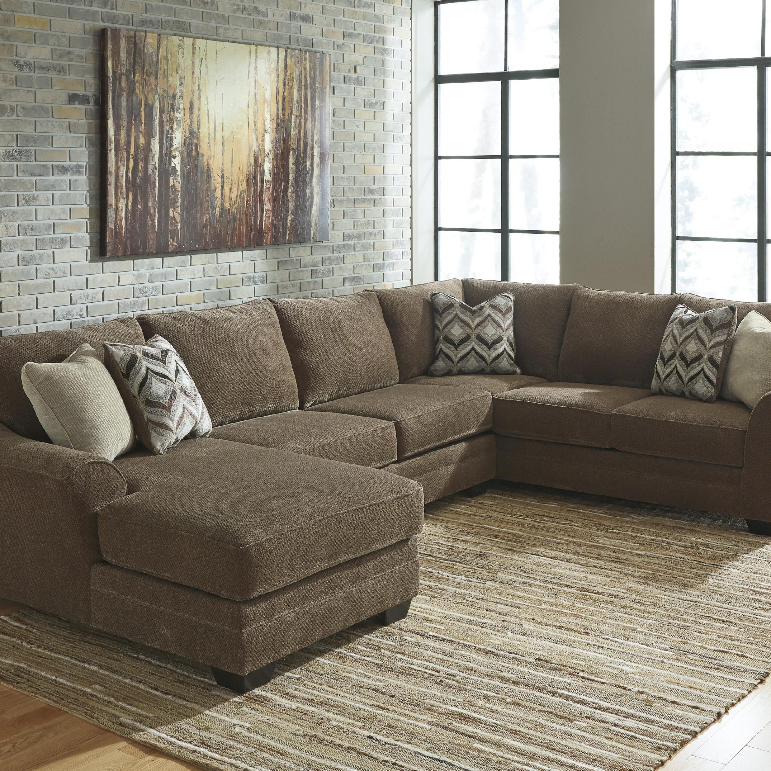 Benchcraft Justyna Contemporary 3 Piece Sectional With Pertaining To Favorite 3Pc Polyfiber Sectional Sofas (View 3 of 25)