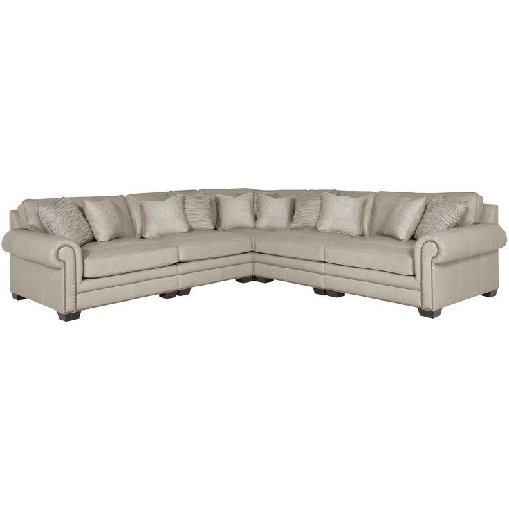 Bernhardt Interiors – Grandview 7230L, 7232L, 7235L, 7236L Regarding Most Recent Radcliff Nailhead Trim Sectional Sofas Gray (View 5 of 25)