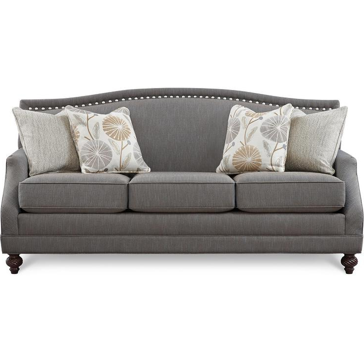 Best And Newest 2Pc Polyfiber Sectional Sofas With Nailhead Trims Gray In Gray Nailhead Sofa Gray Sofa With Nailhead Trim Velvet (View 6 of 25)