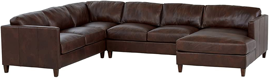 Best And Newest Amazon: Amazon Brand – Stone & Beam Andover Right Intended For Dulce Right Sectional Sofas Twill Stone (View 10 of 25)