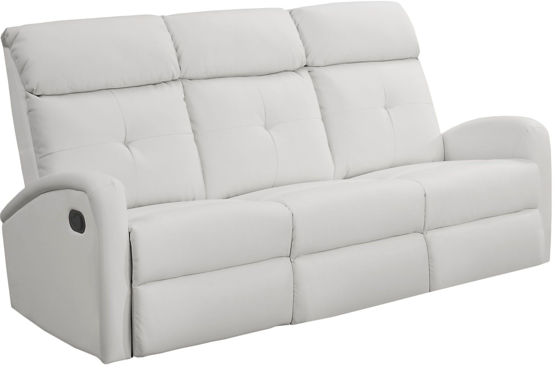 Best And Newest Bonded Leather All In One Sectional Sofas With Ottoman And 2 Pillows Brown For 88Wh 3 White Bonded Leather Reclining Sofa From Monarch (View 25 of 25)